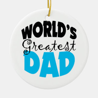 Worlds Greatest Dad Christmas Ornament