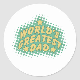 World's greatest dad classic round sticker