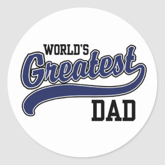 World's Greatest Dad Classic Round Sticker