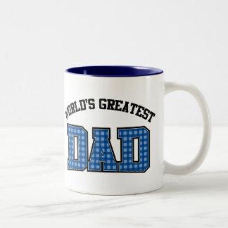 Worlds Greatest Dad Coffee Mug Plaid