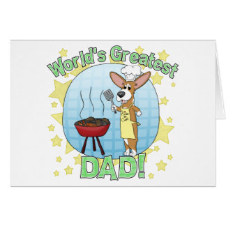 World's Greatest Dad Corgi Card