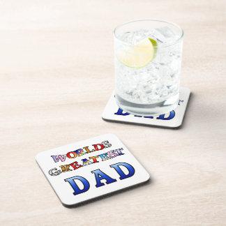 Worlds Greatest Dad Cork Coaster