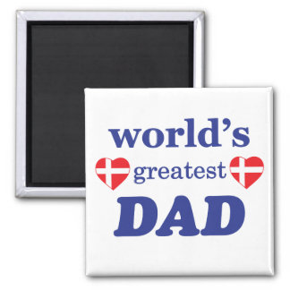 WORLDS GREATEST DAD - DANISH FLAGS MAGNET