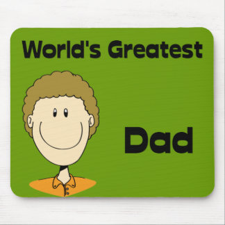 World's Greatest Dad Design #1 Mousepad