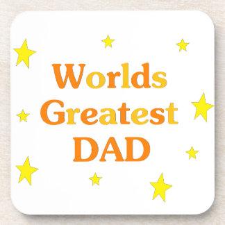 Worlds Greatest Dad Drink Coaster