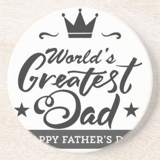World's_Greatest_Dad Drink Coaster