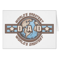 World's Greatest Dad Earth Logo T-shirts Gifts Card