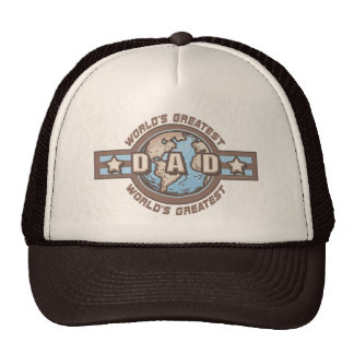World's Greatest Dad Earth Logo T-shirts Gifts Hat