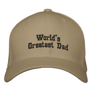 World's Greatest Dad Embroidered Baseball Hat