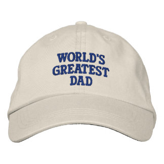 World's Greatest Dad Embroidered Baseball Caps