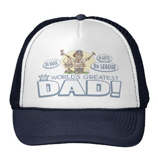 World's Greatest Dad Father's Day BBQ Gear Hats