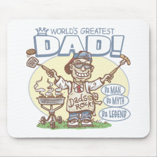World's Greatest Dad Father's Day BBQ Gear Mouse Pad