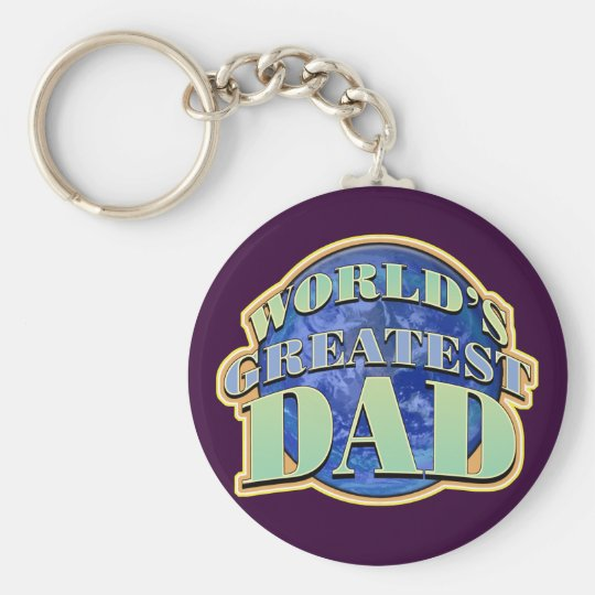 World's Greatest Dad Father's Day Classic Keychain