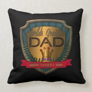 World's Greatest Dad   Father's Day Throw Pillow