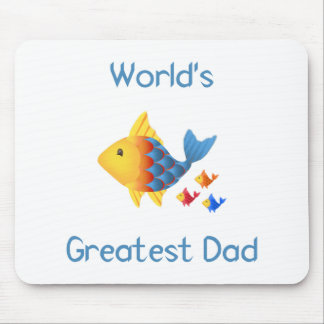 World's Greatest Dad (fish) Mouse Pad