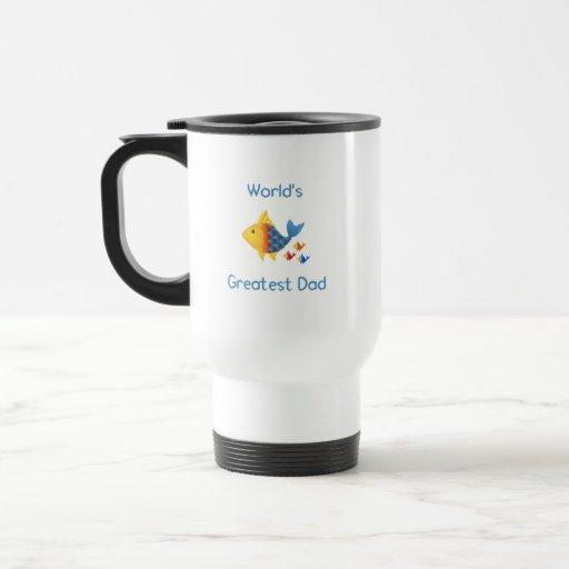 World's Greatest Dad (fish) Mugs