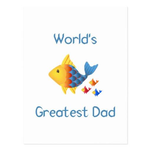 World's Greatest Dad (fish) Postcard