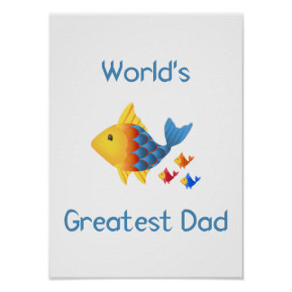 World's Greatest Dad (fish) Poster