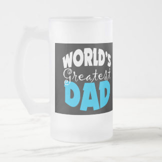 World's Greatest Dad Gift Frosted Glass Beer Mug