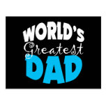 World's Greatest Dad Gift Post Card