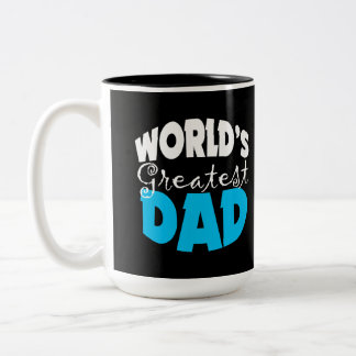 World's Greatest Dad Gift Two-Tone Coffee Mug