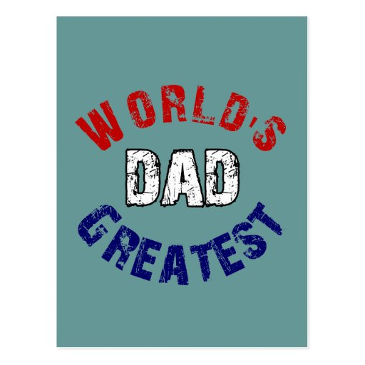 World's Greatest Dad Gifts Postcard