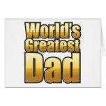 World's Greatest Dad (gold) Cards
