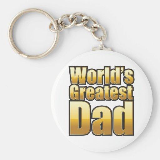 World's Greatest Dad (gold) Key Chain