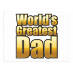 World's Greatest Dad (gold) Post Card