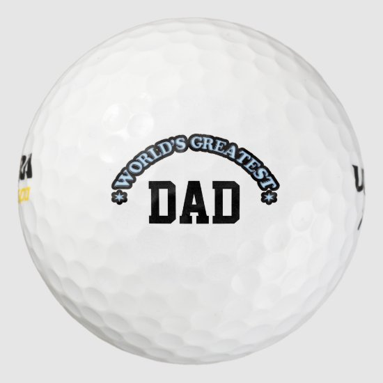 World's Greatest Dad Golf Balls