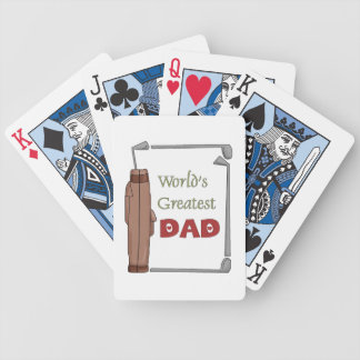 World's Greatest Dad Golfing Playing Cards