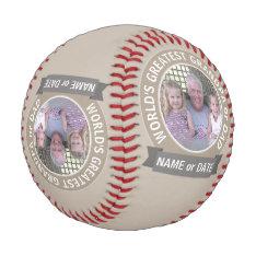 World's Greatest Dad Grandpa Custom Photo Template Baseball at Zazzle