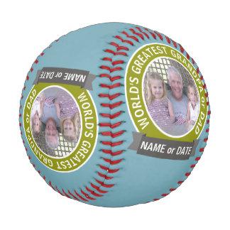 World's Greatest Dad Grandpa Custom Photo Template Baseball