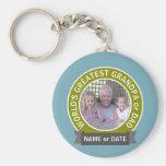 World's Greatest Dad Grandpa Custom Photo Template Basic Round Button Keychain