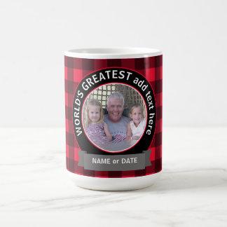World's Greatest Dad Grandpa Custom Photo Template Classic White Coffee Mug