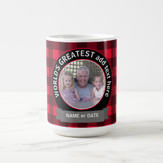 World's Greatest Dad Grandpa Custom Photo Template Coffee Mug