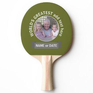 World's Greatest Dad Grandpa Custom Photo Template Ping-Pong Paddle