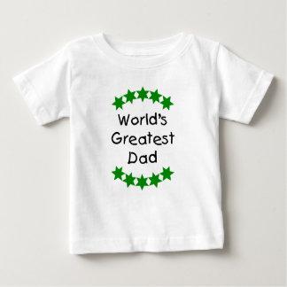 World's Greatest Dad (green stars) Baby T-Shirt