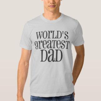 World's Greatest Dad - Grey T Shirt