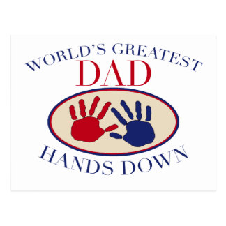 World's Greatest Dad Hands Down Postcards