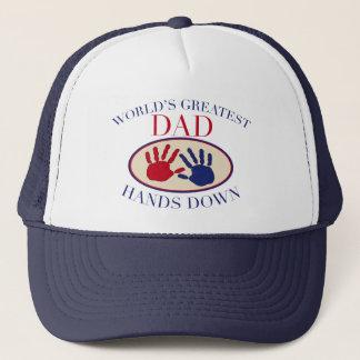 World's Greatest Dad Hands Down Trucker Hat