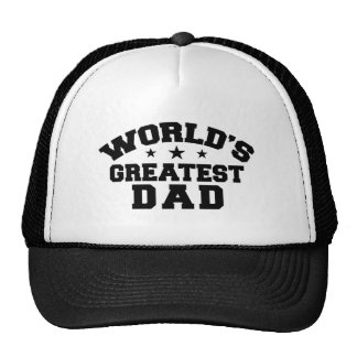 World's Greatest Dad Trucker Hats