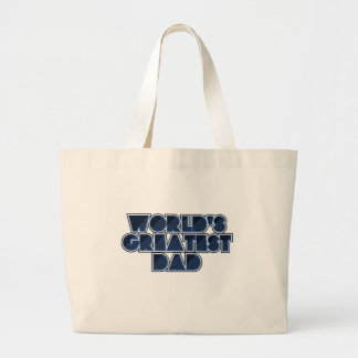 World's Greatest Dad Large Tote Bag