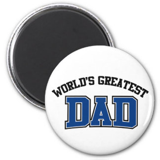 Worlds Greatest Dad Magnet Blue