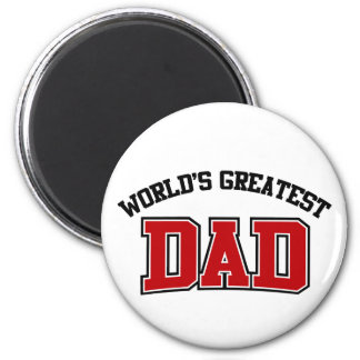 Worlds Greatest Dad Magnet Red