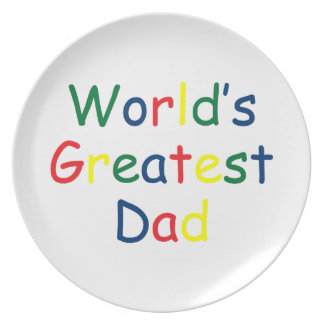 World's Greatest Dad Melamine Plate