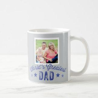 World's Greatest Dad Mug with Photo Custom color