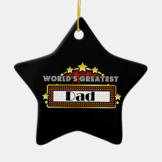 World's Greatest Dad Double-Sided Star Ceramic Christmas Ornament