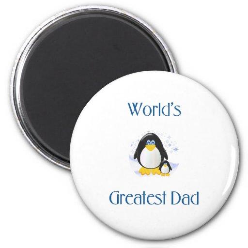 World's Greatest Dad (penguin) Fridge Magnet