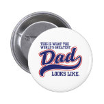World's Greatest Dad Pin